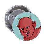 Halloween devil pinback buttons