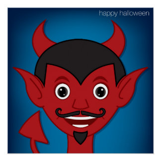 Halloween Devil Poster