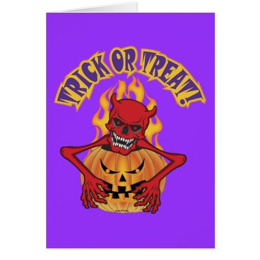 Halloween Devil Skul Card