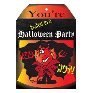 Halloween Devilish Party Custom Invitations