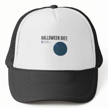 Halloween Themed Halloween Diet Sweets Treats and Candy Design Trucker Hat