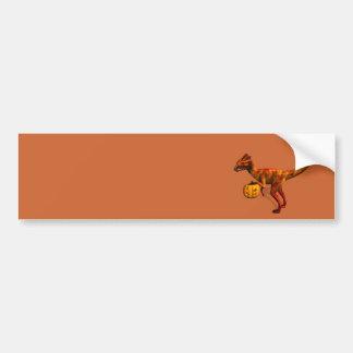 Halloween Dilophosaurus Bumper Sticker