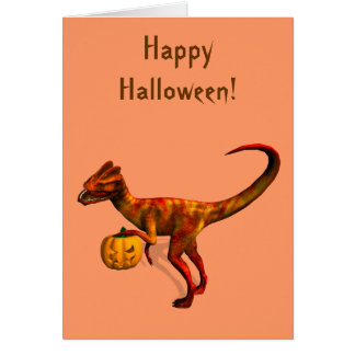 Halloween Dilophosaurus Cards