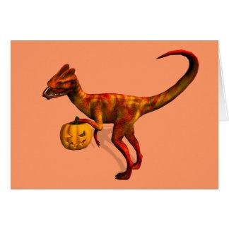 Halloween Dilophosaurus Greeting Card