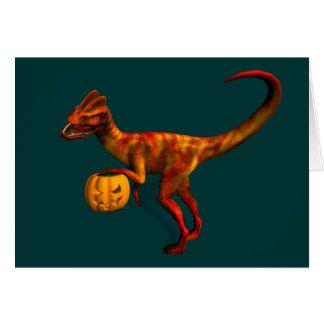 Halloween Dilophosaurus Greeting Cards