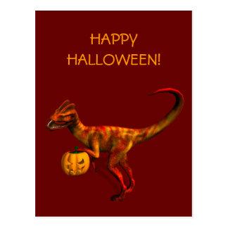 Halloween Dilophosaurus Postcard