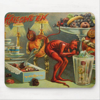 Halloween Dinner Mouse Pad