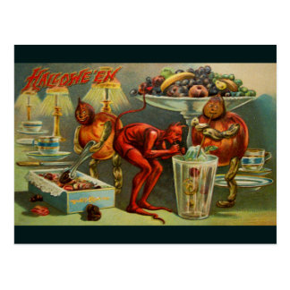 Halloween Dinner Postcard