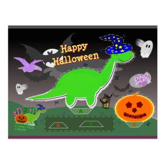 Halloween Dinosaur Statue Cut & Glue Craft Card