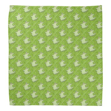 Halloween Themed Halloween Diva Ghost Spookaliza on Green Tiles Bandana