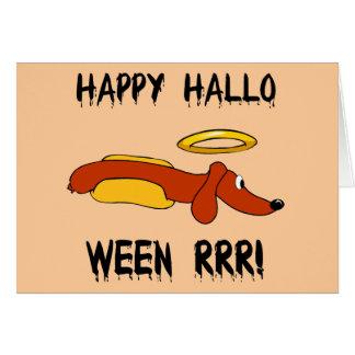 Halloween divertido tarjeta de felicitación