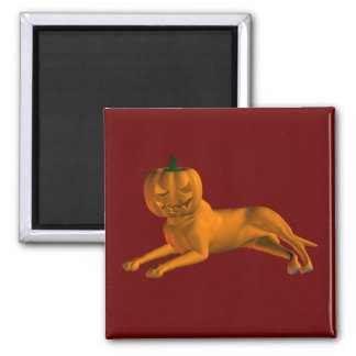 Halloween Dog 2 Inch Square Magnet