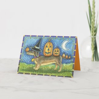 Halloween Dog Card card