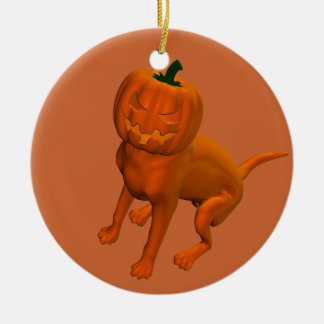 Halloween Dog Ceramic Ornament