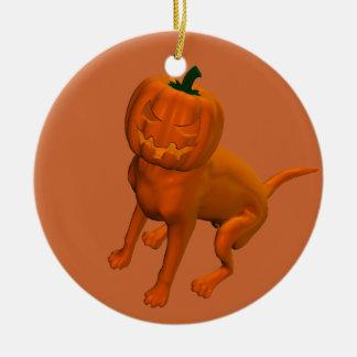 Halloween Dog Ceramic Ornament
