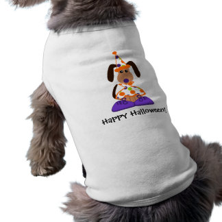 Halloween Dog Clown T-Shirt Dog Tee Shirt