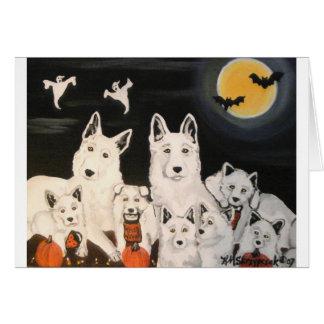 Halloween Dog Family Greeting Card