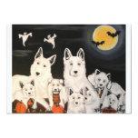 Halloween Dog Family Invitations