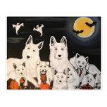 Halloween Dog Family Postcard