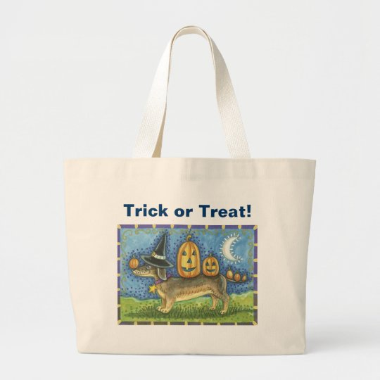 Halloween Dog Large Tote Bag