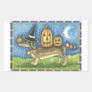 Halloween Dog Rectangular Sticker