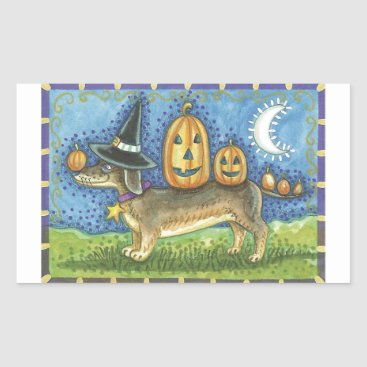 Halloween Themed Halloween Dog Rectangular Sticker