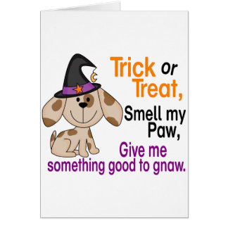 Halloween Dog Smell My Paw 1 Greeting Card