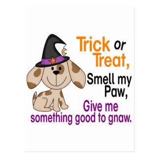 Halloween Dog Smell My Paw 1 Postcard