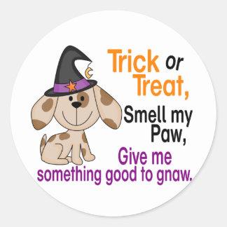 Halloween Dog Smell My Paw 1 Classic Round Sticker
