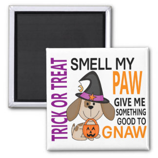Halloween Dog Smell My Paw 2 2 Inch Square Magnet