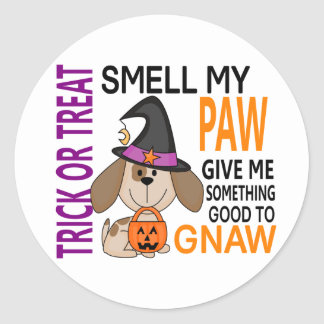 Halloween Dog Smell My Paw 2 Classic Round Sticker