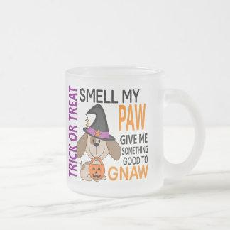Halloween Dog Smell My Paw 2 10 Oz Frosted Glass Coffee Mug
