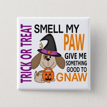 Halloween Themed Halloween Dog Smell My Paw 2 Pinback Button
