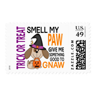 Halloween Dog Smell My Paw 2 Postage Stamp