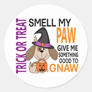 Halloween Dog Smell My Paw 2 Classic Round Sticker