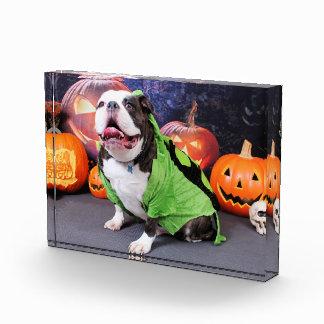 Halloween - dogo inglés - punto