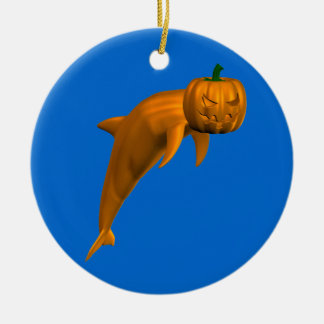 Halloween Dolphin Ceramic Ornament