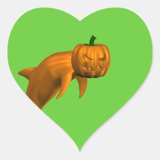 Halloween Dolphin Heart Sticker