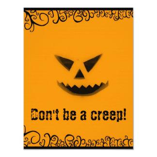 Halloween: Don't Be A Creep! Card