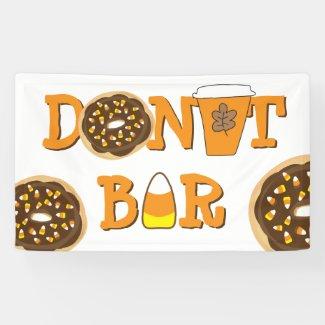 Halloween Donut Bar Banner