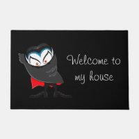 Halloween Door Mat-Dracula Doormat