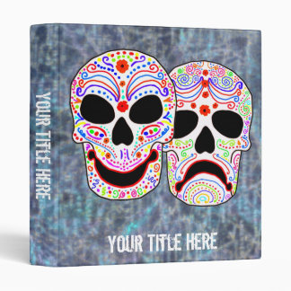 Halloween DOTD Comedy-Tragedy Skulls Binder