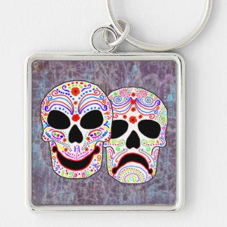 Halloween DOTD Comedy-Tragedy Skulls Key Chains
