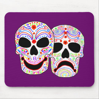 Halloween DOTD Comedy-Tragedy Skulls Mouse Pads