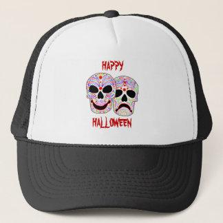 Halloween DOTD Comedy-Tragedy Skulls Trucker Hat