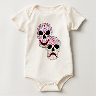 Halloween DOTD Comedy-Tragedy Skulls Bodysuits