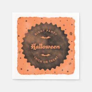 Halloween Dots Watercolor Napkin Disposable Napkin