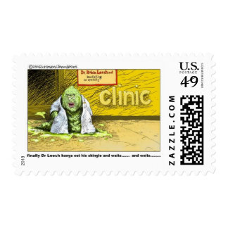 Halloween : Dr Leech Has No Clients Funny Gifts Postage