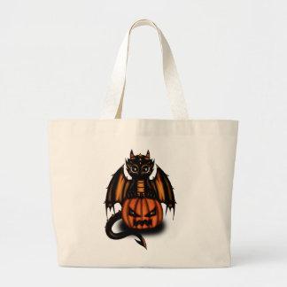 Halloween Dragon Large Tote Bag