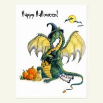 Halloween Dragon postcard